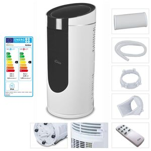TroniTechnik KELDUR 4-in-1 Klimaanlage Klimagerät 9.000 BTU/2,6 kW