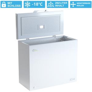 TroniTechnik Gefriertruhe Kühltruhe Kühlfach Borgar 210L