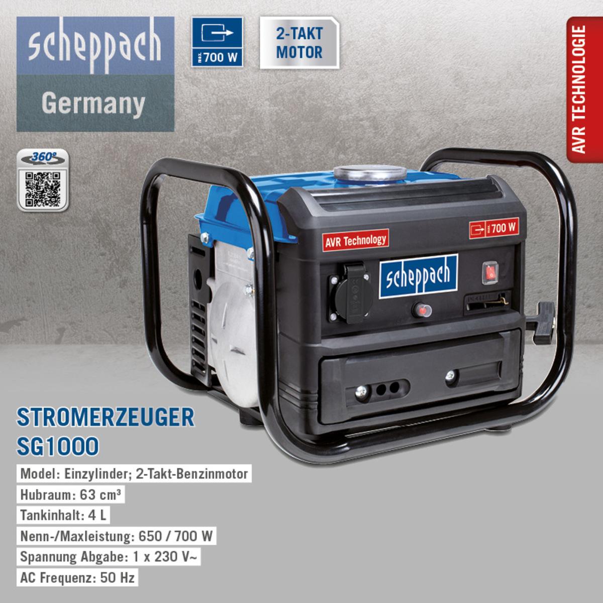 Bild 2 von Scheppach Stromerzeuger SG1000 SE