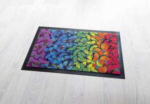 Lifetex Schmutzfangmatte mit Digitaldruck ca. 40 x 60 cm, Schmetterling bunt
