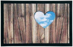 Lifetex Digitaldruck-Schmutzfangmatte, ca. 40 x 60 cm - Herzausschnitt auf Holz