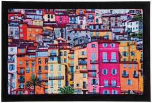 Lifetex Digitaldruck-Schmutzfangmatte, ca. 40 x 60 cm - Bunte Häuser
