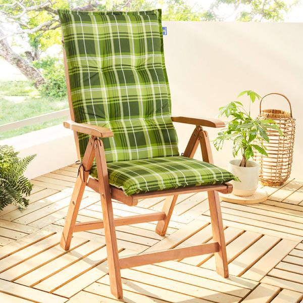 Solax-Sunshine Hochlehner-Polsterauflage - Lindgrün/Grün