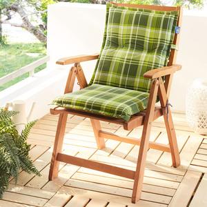 Solax-Sunshine Niedriglehner-Polsterauflage - Lindgrün/Grün