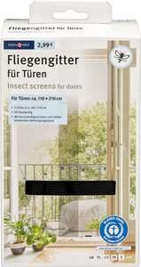 IDEENWELT Insektenschutz für Tür anthrazit