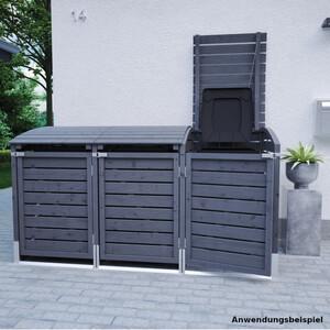 Mülltonnenbox für 3 Mülltonnen mit je 240 Liter