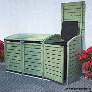Mülltonnenbox für 3 Mülltonnen je 240 Liter grün