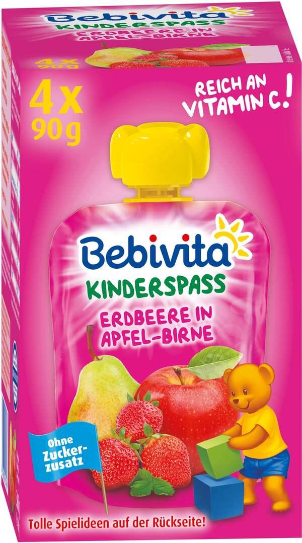 Bebivita Kinderspass Erdbeere in Apfel Birne