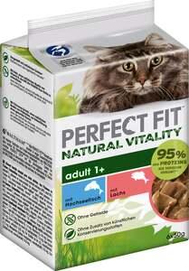 Perfect Fit Katze Natural Vitality Adult 1+ mit Hochseefisch & mit Lachs Multipack