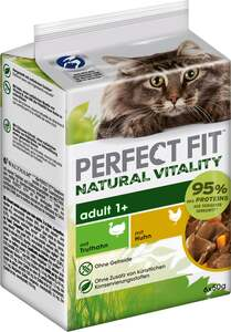 Perfect Fit Katze Natural Vitality Adult 1+ mit Truthahn & mit Huhn Multipack