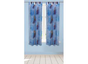 Schlaufenvorhang Die Eiskönigin 2 blau ca. 140 x 175 cm