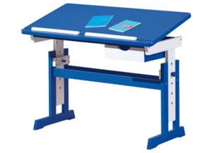 Schreibtisch Paco 109x55cm, mit SL blau/weiss