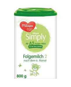 Milupa Simply mit A2 Protein-Milch 2 Folgemilch nach dem 6. Monat
