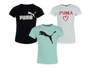 Puma Mädchen T-Shirt, mit bequemem Rundhalsausschnitt