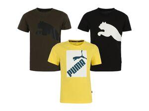 Puma Jungen T-Shirt, mit bequemem Rundhalsausschnitt