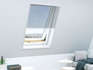 Insektenschutz für Dachfenster, in Plisseeausführung