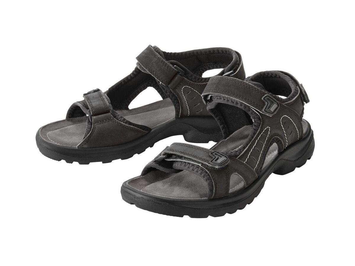 Bild 5 von CRIVIT® Sandalen Damen, mit verstellbaren Klettverschlüssen, Lederfußbett