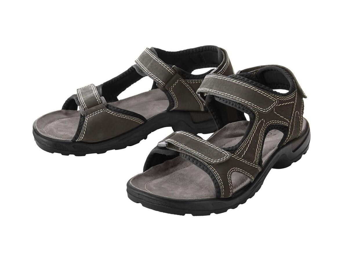 Bild 5 von CRIVIT® Trekking Sandalen Herren, Lederfußbett, flexible Laufsohle, verstellbare Klettverschlüsse
