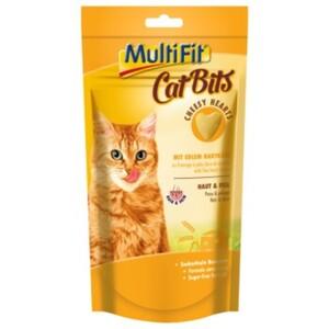 MultiFit Cat Bits 8x40g Cheesy Hearts