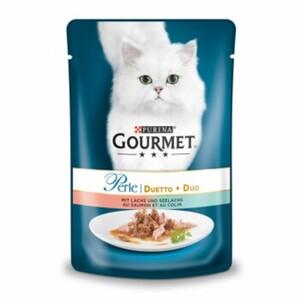 Gourmet Perle Duetto 24x85g Lachs & Seelachs