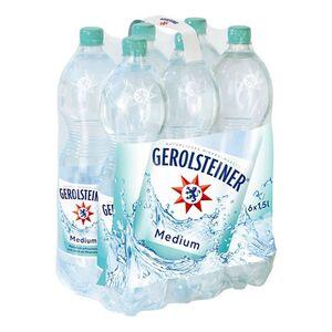 Gerolsteiner Mineralwasser Medium 1,5 Liter, 6er Pack