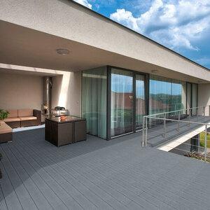 WPC-Terrassendielen, 6 m², hellgrau