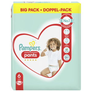 Pampers Premium Protection Pants Gr.6 Extra Large 15+kg 34 Stück