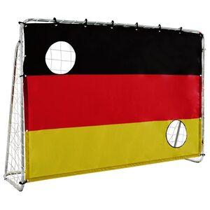 L.A. Sports Fußballtor mit Netz und Torwand Germany - 2in1 Set Kinder Tor und Torschusswand
