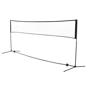 Homcom Badmintonnetz höhenverstellbar schwarz