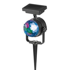 MAXXMEE Solar-Partystrahler rotierenden Lichteffekten - schwarz