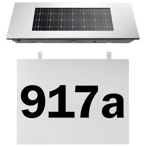 Deuba Solar Hausnummer weiß Dämmerungsschalter
