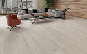 Vinylboden-Designboden Silver Sand Landhausdiele mit integrierter Trittschalldämmung