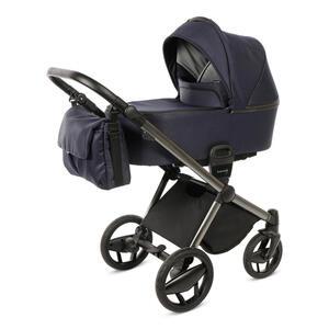 Knorr Kinderwagenset premium life + dunkelblau  3333-05 Life + Komplettset  Metall