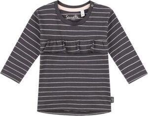 Baby Langarmshirt , Organic Cotton grau Gr. 140 Mädchen Kinder