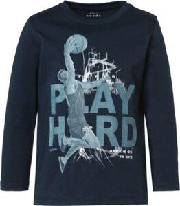 T-Shirt NMMVICTOR , Organic Cotton dunkelblau Gr. 98 Jungen Kleinkinder