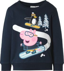 Sweatshirt NMMPEPPAPIG , Organic Cotton dunkelblau Gr. 92 Jungen Kleinkinder