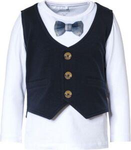 T-Shirt NMMRASTO , Organic Cotton weiß Gr. 122/128 Jungen Kinder