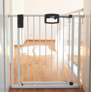 Türschutzgitter Easy Lock, Metall, weiß, 68 - 76 cm