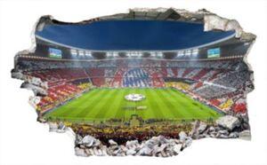 3D Wandtattoo FCB Stadion Immer weiter, 120 x 73