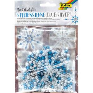 Bastelstern-Set Perle, blau