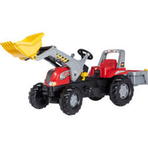 rolly® toys Trettraktor Junior RT mit Lader und Transportmulde