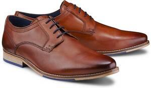 COX, Derby-Schnürschuh in mittelbraun, Business-Schuhe für Herren