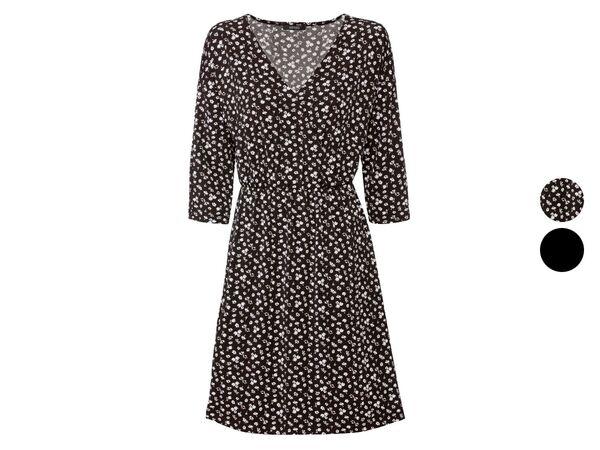ESMARA® Kleid Damen, in Wickeloptik, mit V-Ausschnitt
