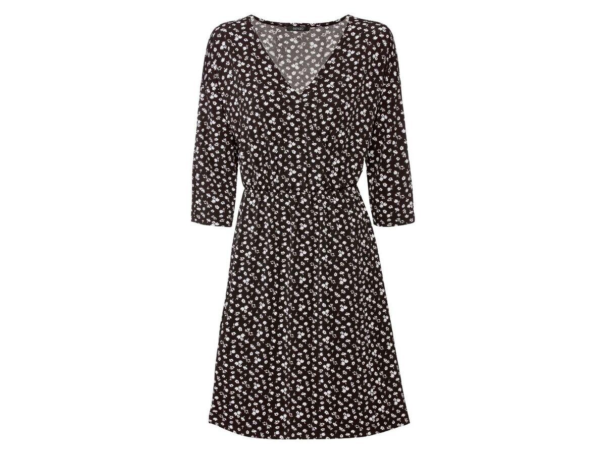 Bild 2 von ESMARA® Kleid Damen, in Wickeloptik, mit V-Ausschnitt