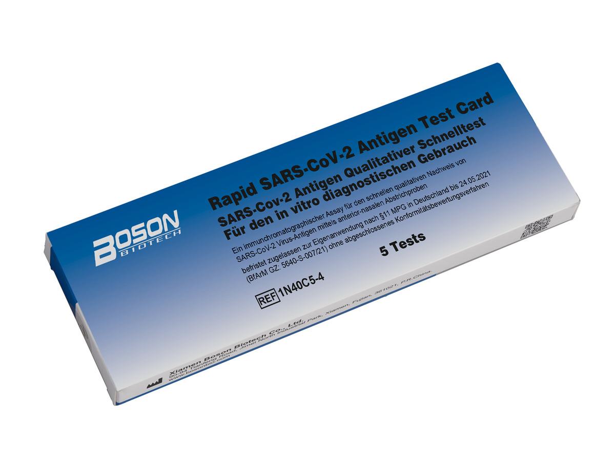 Bild 2 von 5er Set Boson Biotech Rapid SARS-CoV-2 Antigen-Schnelltest