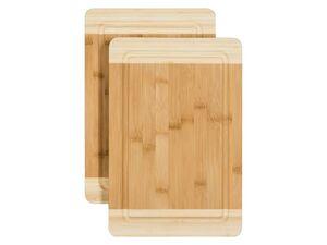 ERNESTO® Schneidebrett Bambus 2er/ Schneidebrett 4er/ Teebox