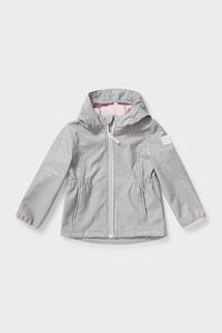 C&A Softshelljacke mit Kapuze-gepunktet, Grau, Größe: 110