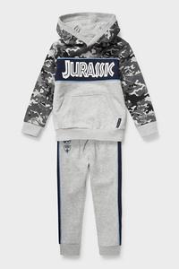 C&A Jurassic World-Set-Sweatshirt und Jogginghose, Grau, Größe: 116