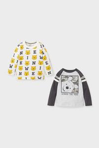 C&A Winnie Puuh-Baby-Langarmshirt-Bio-Baumwolle-2er Pack, Grau, Größe: 92
