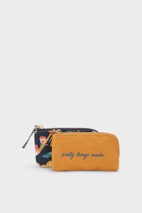 C&A Multipack 2er-Kosmetiktasche, Orange, Größe: 1 size
